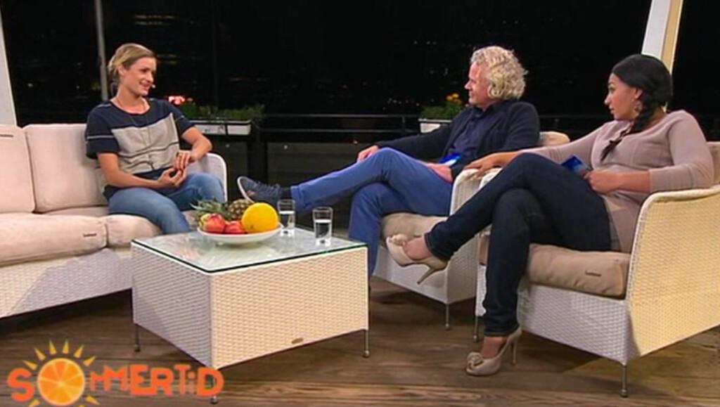 FORVIRRET SEERNE: I tirsdagens «Sommertid» intervju - som TV 2 hevdet var direktesendt - snakket Christina Vukicevic om at hun håpet å få være med i friidretts-VM. Men tidligere på dagen hadde hun trukket seg fra det samme mesterskapet... Foto: TV 2