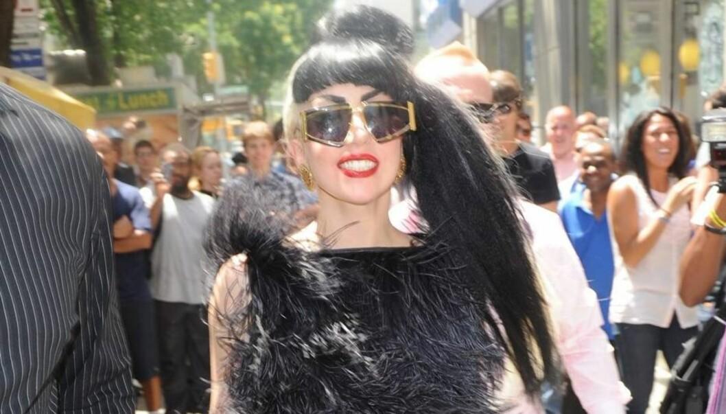 INSPIRERT AV FAR: Superstjernen Lady GaGa hevder at hennes egne sprø påfunn er inspirert av faren Joe. Foto: All Over Press