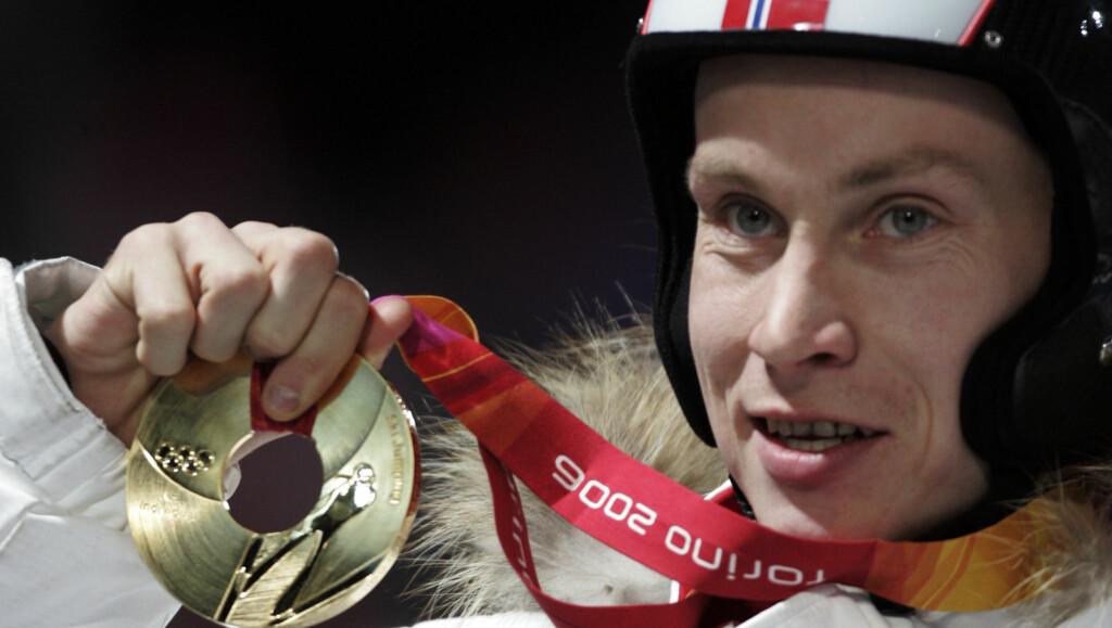 OL-VINNER: Lars Bystøl vant gull i normalbakke i OL i 2006. Foto: SCANPIX