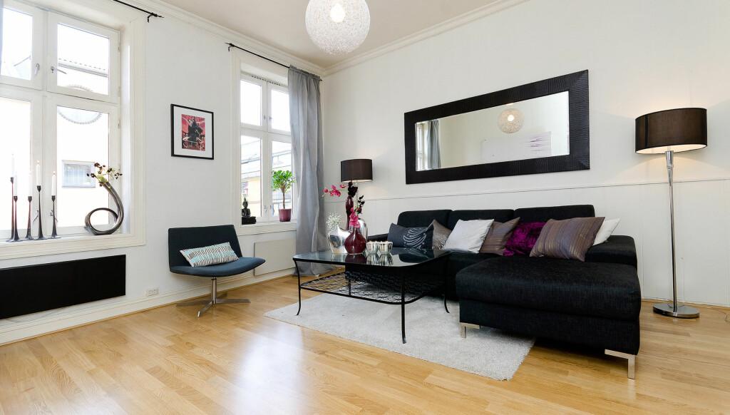 SOLGTE: Charlotte Thorstvedt har solgt denne leiligheten, som hun disponerte på Grønland i Oslo. Nå flytter hun til London. Foto: Foto: Alejandro Villanueva / Invisio