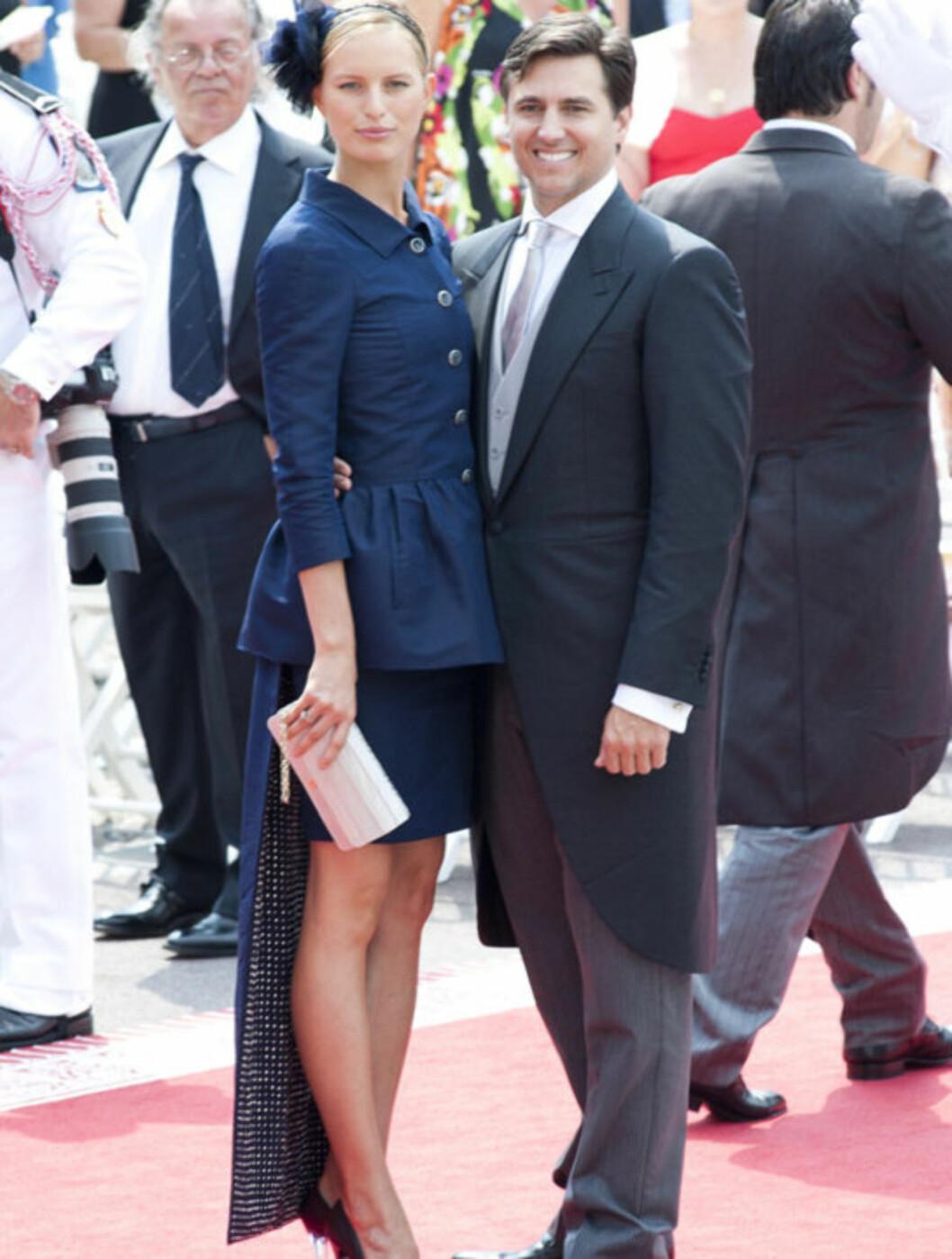 <strong>BRYLLUPSGJEST:</strong> Karolina Kurkova skal ha vært en av gjestene i et celebert bryllup på Capri denne helgen. Også forrige helg var hun og Archie Drury (t.h) i bryllup - til fyrst Albert og Charlene Wittstock i Monaco.  Foto: Stella  Pictures