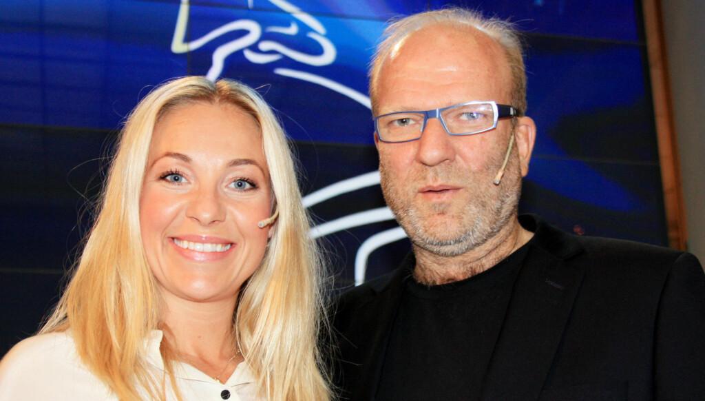 KLAR FOR FILMFEST: Janne Formoe og Ingar Helge Gimle gleder seg til å lede Amandashowet den 20. august. Foto: Anders Myhren / Seher.no