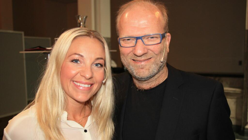 NY PROGRAMLEDERDUO: Janne Formoe og Ingar Helge Gimle gleder seg til å lede Amandashowet den 20. august. Foto: Seher.no / Anders Myhren