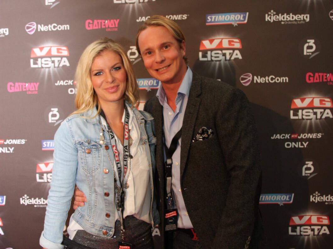 REALITYPAR: Petter Pilgaard og samboeren Mari Haugersveen gledet seg stort til VG-lista-konserten fredag kveld. Foto: Sølve Hindhamar/ Seher.no