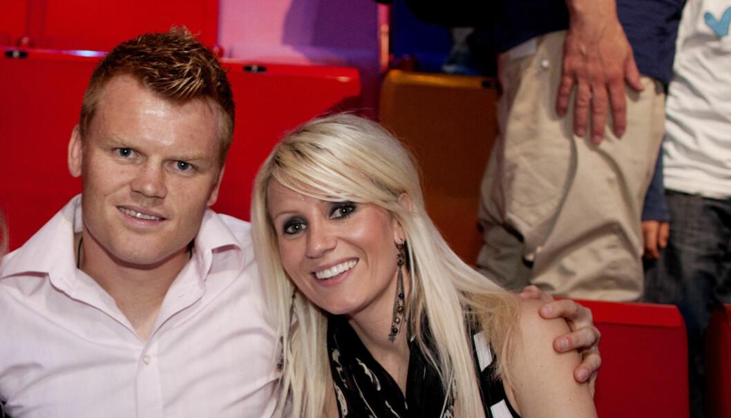 TIL USA: John Arne Riise og Maria Elvegård skal feriere i Los Angeles. Her er de avbildet da de var publikum under finalen av TV2-serien «Norske Talenter». Foto: Scanpix