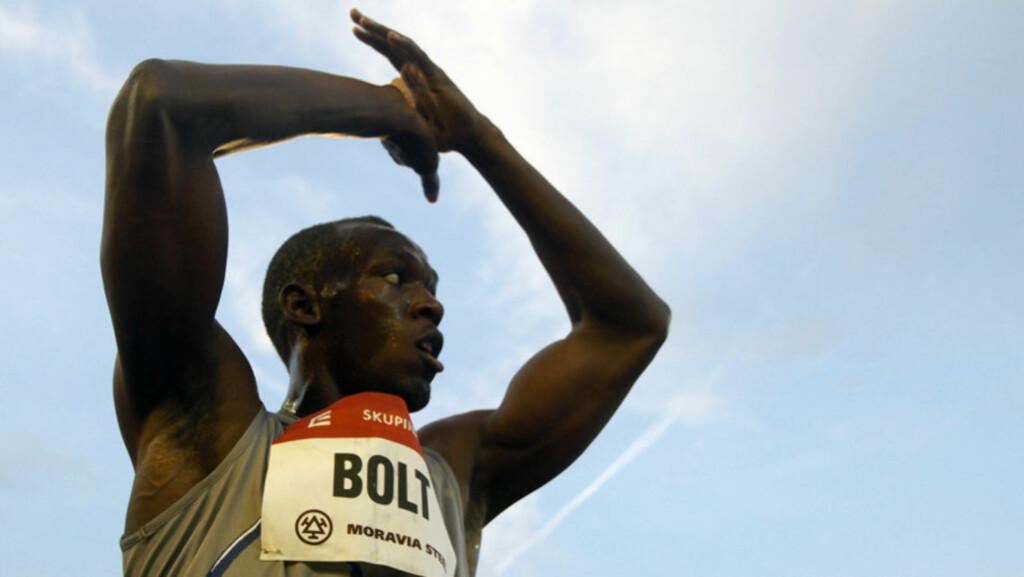 VILL VINNER: Usain Bolt vinner det meste som kan vinnes - torsdag inntar han Bislett Stadion for å løfte Bislett Games til nye høyder. Her avbildet etter 100-meterseieren i Ostrava 31. mai.  Foto: Reuters/ Scanpix