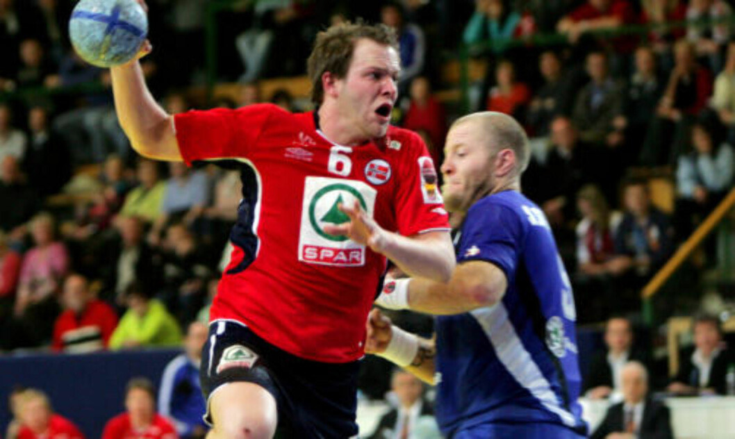 <strong>EM-REKORD:</strong> Kjetil Strand scoret 19 mål da Norge slo Island i 2006-EM. Foto: Håkon Mosvold Larsen/Scanpix