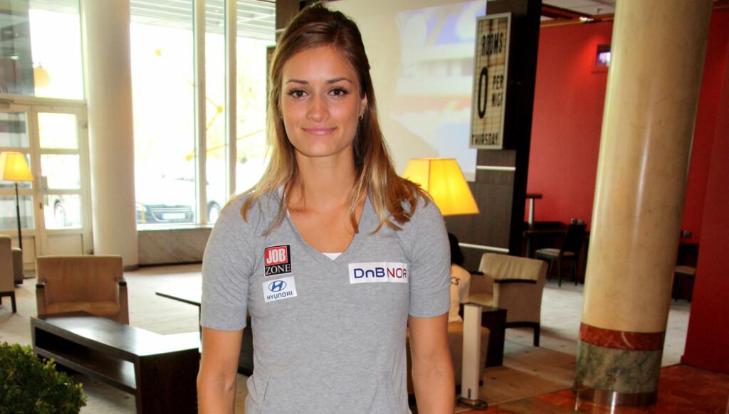 STØTTER NORDTØMME: Christina Vukicevic ødela muskler da hun spiddet låret på en hekk i 2008. Hun vet hvordan det er å miste en sesong på grunn av fall. Foto: Thomas Horni / Seher.no