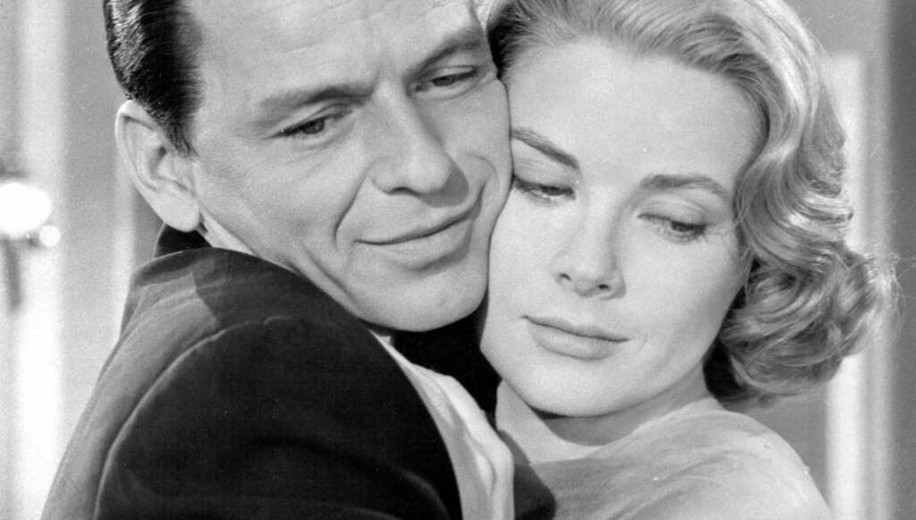 KVINNEBEDÅRER: Skuespilleren og artisten Frank Sinatra var populær blant damene, og skal blant annet ha hatt en forhold til Marilyn Monroe. Her er han sammen med skuespillerinnen Grace Kelly.  Foto: Stella Pictures
