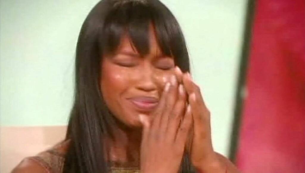SÅRENDE: Naomi Campbell beskriver reklamekampanjen som fornærmende og sårende. Her er hun under et intervjuet med Oprah Winfrey. Foto: All Over Press