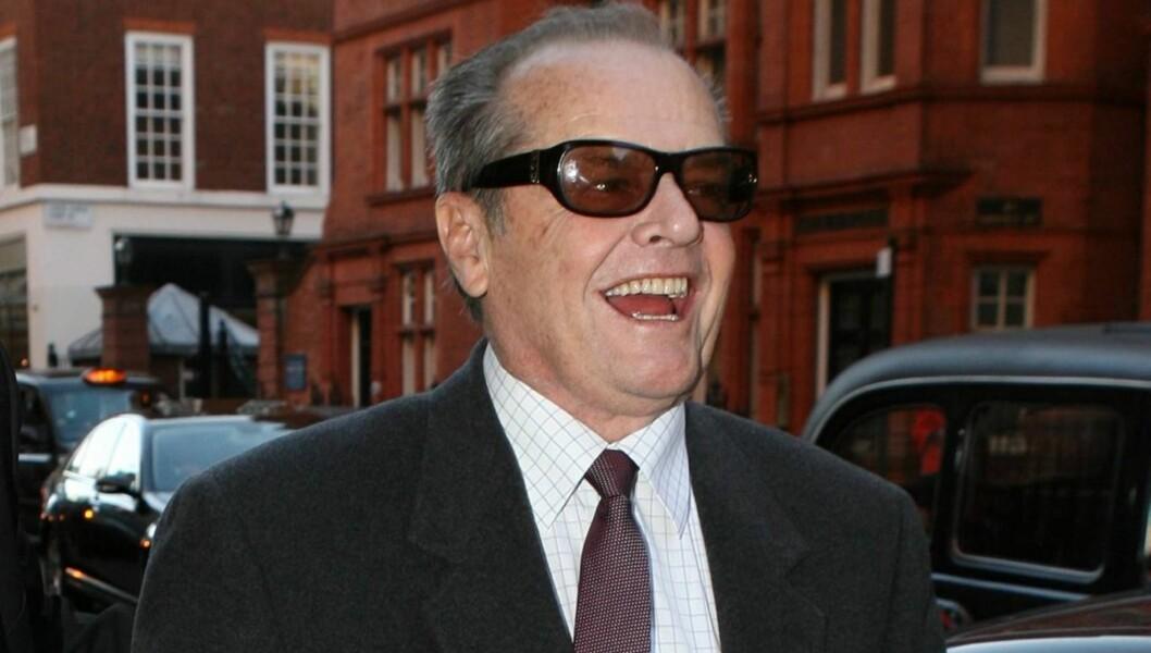 BLE BESTEFAR TIL DANSKE: Jack Nicholson kan smile bredt etter å ha blitt bestefar til den danske babyen Walter Hollman rett før sin 74-års dag 22. april. Foto: All Over Press