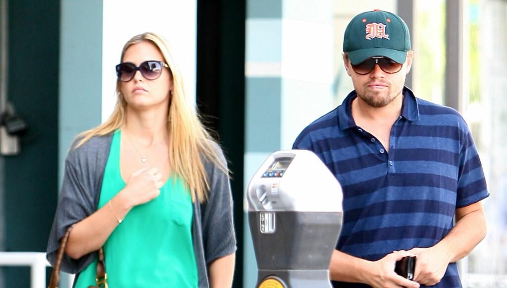 ØNSKET BARN: Leonardo DiCaprio ville ha barn. Det ville ikke Refaeli. Det skal ha gjort DiCaprio rasende. Foto: All Over Press