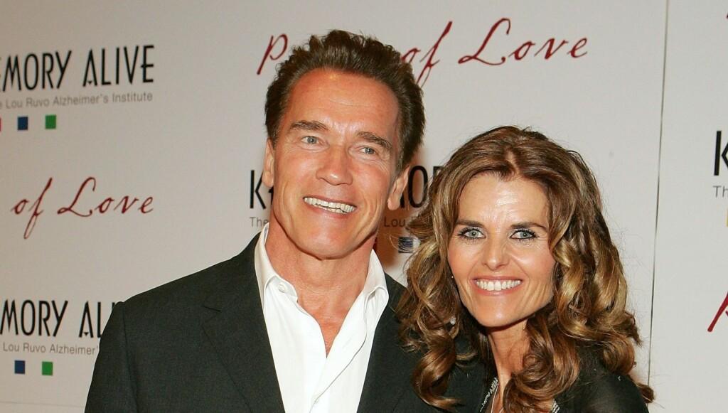 SLUTT: Det 25 år lange ekteskapet mellom Arnold Schwarzenegger og kona Maria Shriver tok nylig slutt etter at skuespillerens hemmelige sønn ble kjent. Foto: All Over Press