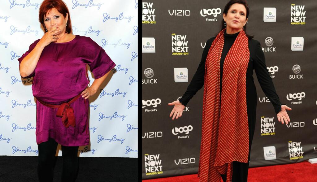 FORVANDLING: Bildet til venstre er tatt i januar, bildet til høyre i april. Fisher har på den tiden gått ned 15 kilo, og ønsker å gå ned ytterligere ti kilo. Foto: All Over Press