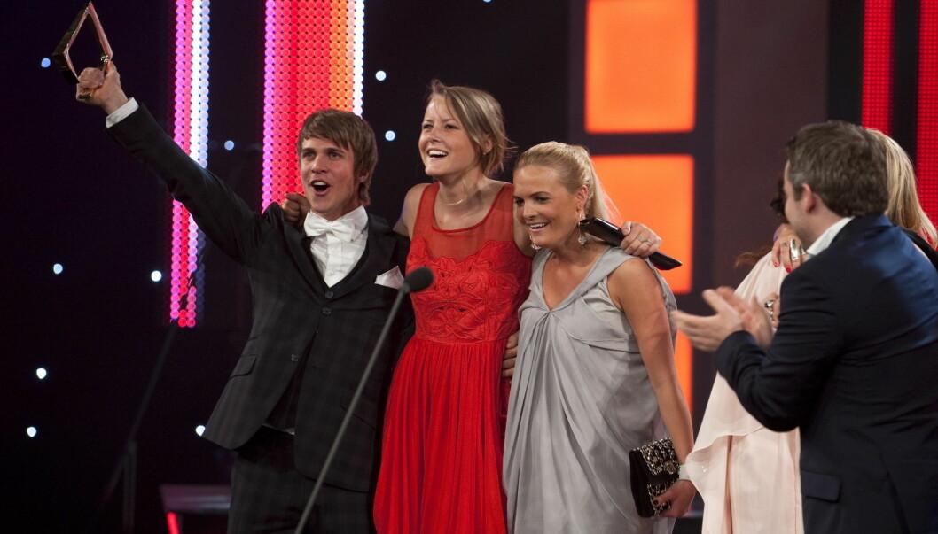 GLADE VINNERE: NRK-programmet Trekant stakk av med prisen for årets nyskapning og beste reality. Foto: SCANPIX