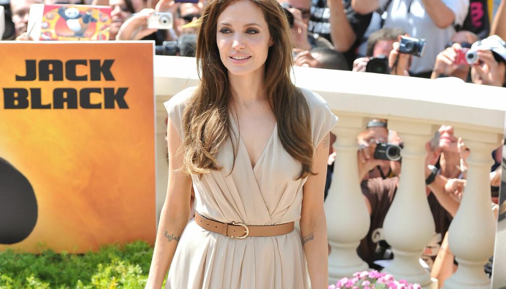 ET PROBLEM?: Det hevdes at Angelina Jolie kan ha et alvorlig problem. Anoreksi og rus har blitt nevnt. Foto: All Over Press