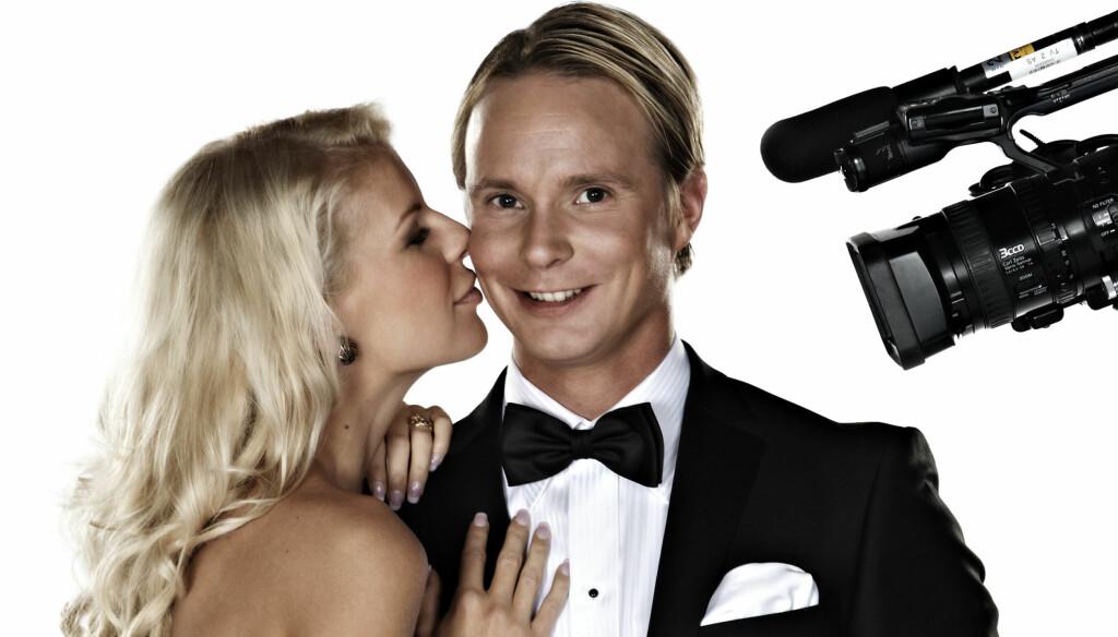 TAR BOTOX: Petter Pilgaard, som her er avbildet sammen med kjæresten Mari Haugersveen, hopper i det og tar en botox-kur i den neste episoden av «Petter elsker Mari». Foto: TV 2