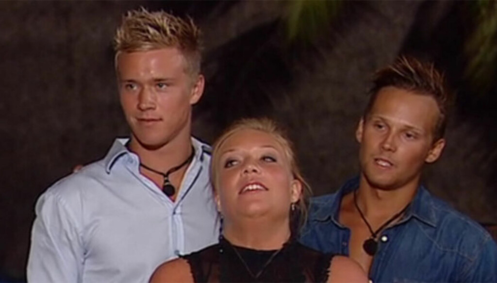 RØK UT I FINALEUKA: Tre dager før årets «Paradise Hotel»-finale, måtte Marius Hagen (t.v.) forlate realityserien til fordel for svenske Mikael Jonsson. Foto: TV3