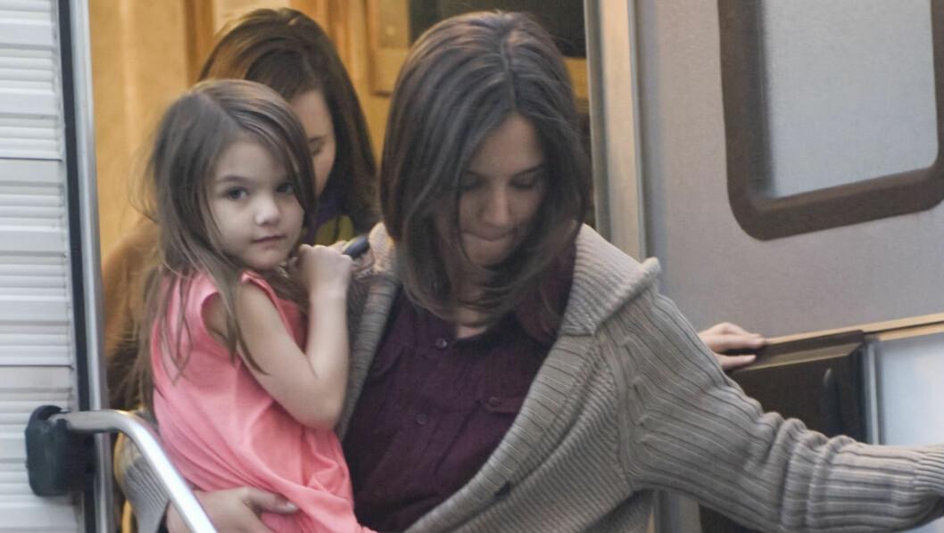 SLÅR TILBAKE: Katie Holmes forteller at hun ikke har noen planer om å få et barn til. Foto: All Over Press
