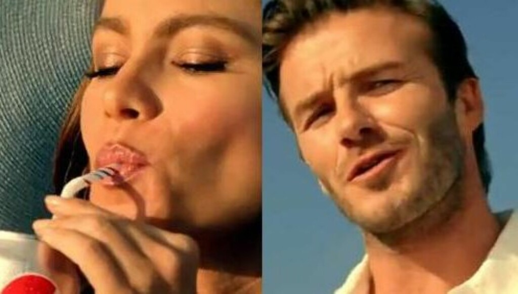 DUKKER OPP: Plutselig dukker David Beckham opp og spør hva som skjer.