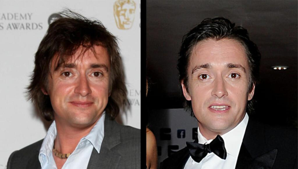 FØR OG NÅ: Hammond så mer rynkete ut rundt øynene i 2009 (til venstre), enn da han tirsdag dukket opp på en tilstelning i London. Foto: Stella Pictures