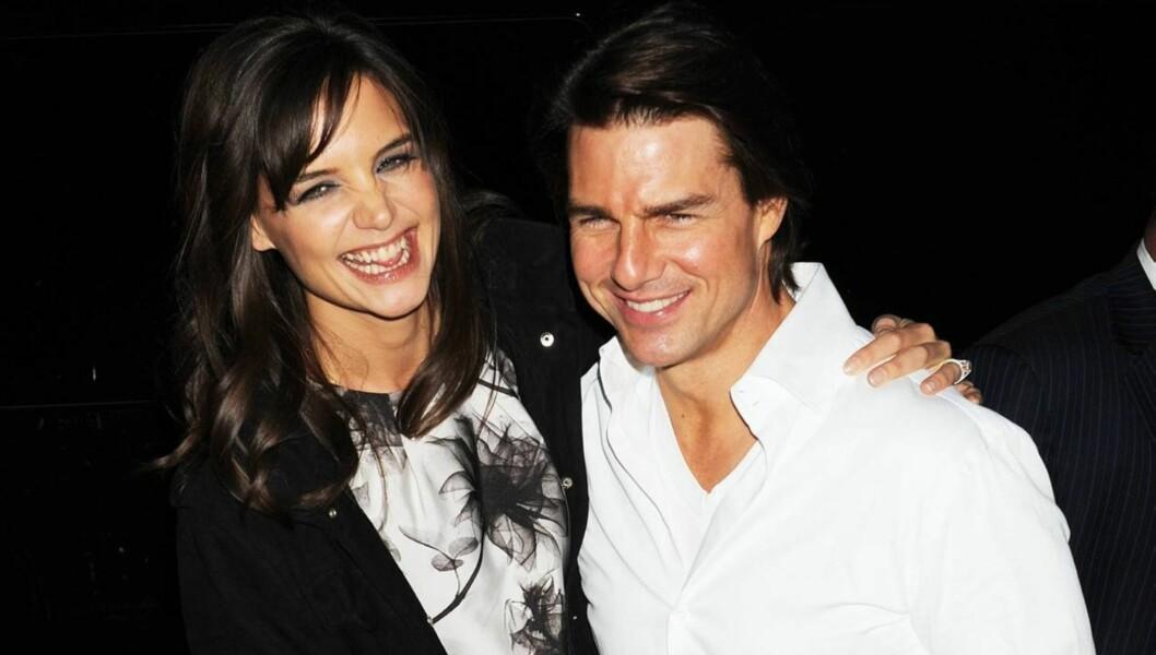 SPEKULERES: Kilder hevder Katie Holmes og Tom Cruise har lyst på et barn til. Hovedgrunnen er Victoria Beckham. Foto: All Over Press