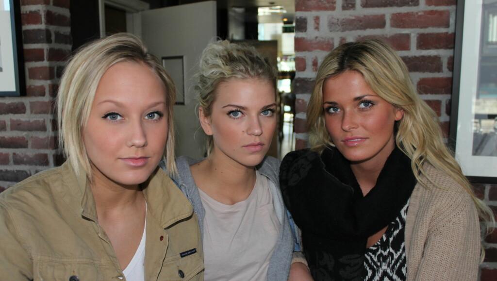 VENTET PÅ DRAMATIKK: Signe Taubøll, Maiken Wahlstrøm Nilssen og Eirin Hagstrøm fra «Top Model» hevder livet i TV3-serien var langt mer dramatisk enn TV-bildene gir inntrykk av. Foto: Anders Myhren, Seher.no