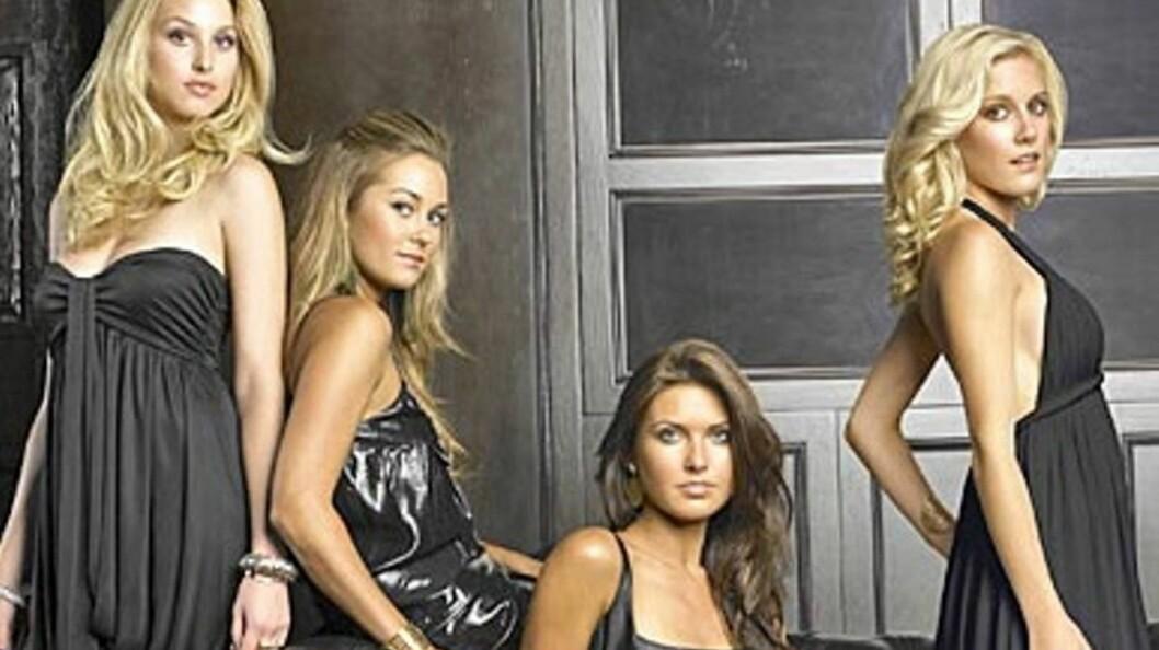 TV-STJERNE: Whitney Port (t.v) har blitt verdensberømt som del av TV-serien «The Hills». Her avbildet med motspillerne Lauren Conrad, Audrina Patridge og Heidi Montag.