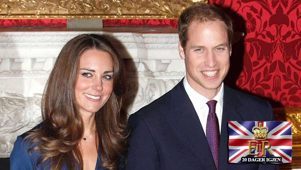 GIFTER SEG SNART: Prins William og Kate Middleton har skapt bryllupsfeber i Storbritannia, og interessen rundt de to er enorm. Foto: Stella Pictures