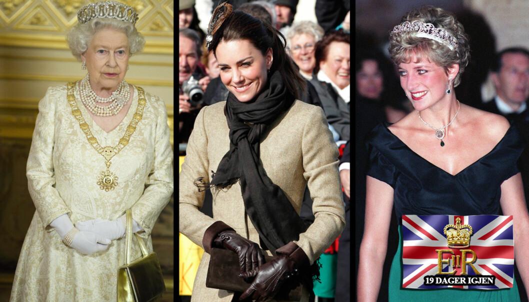 HODEDISKUSJON: Kate Middleton har iløpet av kort tid blitt et moteikon for hele verden. Men hodepynten hennes er blitt diskusjonstema i kongelige kretser. Dronning Elisabeth bruker ofte tiara ved kongelige arrangementer, det samme gjorde Diana. Nå sier  Foto: Stella Pictures