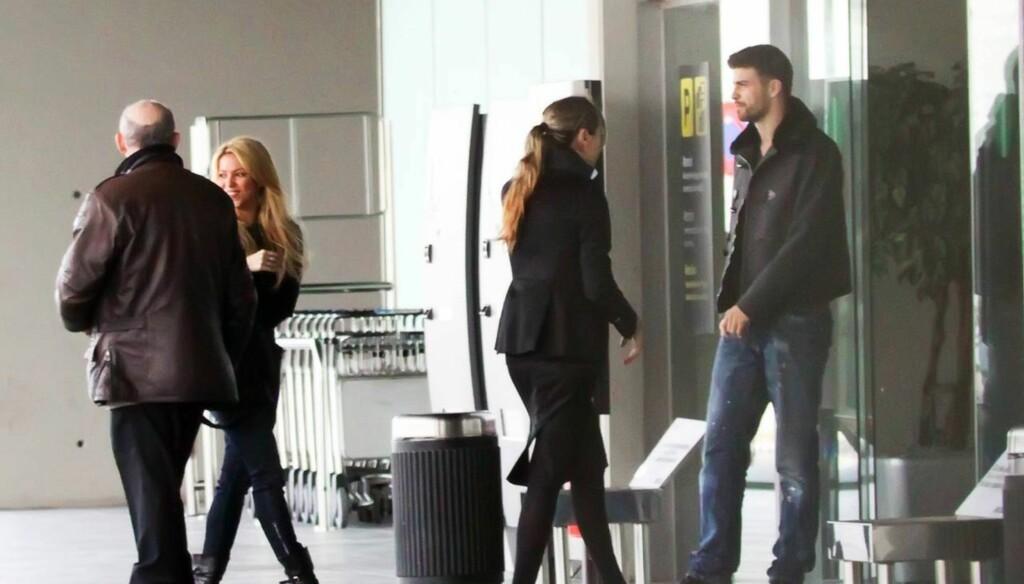 TATT PÅ FERSKEN: Shakira og fotballstjernen Gerard Pique har den siste tiden blitt utsatt for en sterk rykteflom, etter at de to ved flere anledninger har vist seg sammen. Foto: Stella pictures