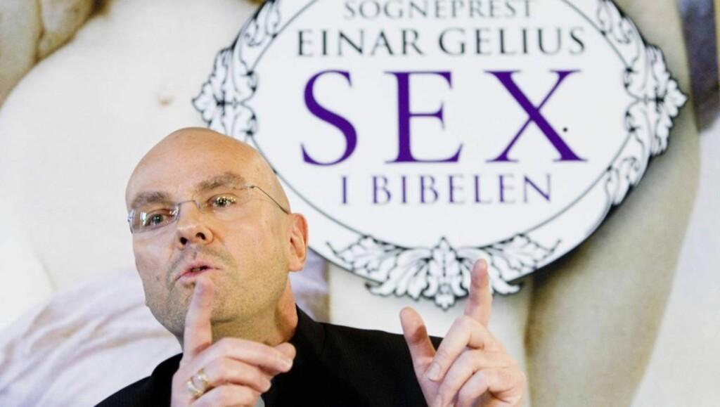 VARSLER NY BOK: Einar Gelius skapte sterke reaksjoner, da han i fjor ga ut boken «Sex i Bibelen». Nå varsler han at han vil skrive en ny bok om tiden etter utgivelsen, som blant annet førte til at han måtte trekke seg fra sin stilling som prest. Foto: SCANPIX