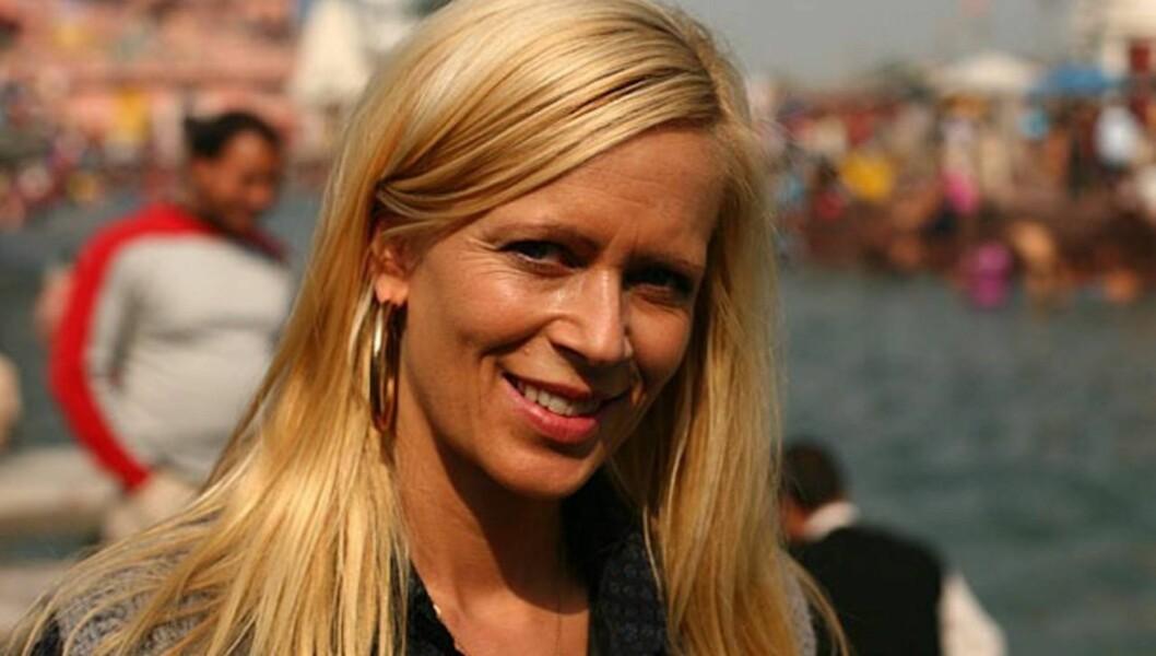ER GRAVID: - Jeg har termin i begynnelsen av september, sier Monica Øien, som dermed venter sitt første barn med millionæren Jan Frederik Dyvi. Foto: TV 2