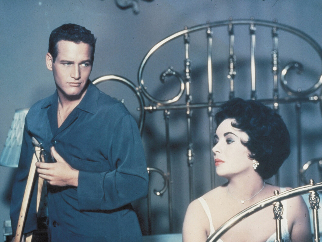<strong>1958:</strong> Taylor i «Cat On A Hot Tin Roof» sammen med Paul Newman.  Foto: Stella Pictures