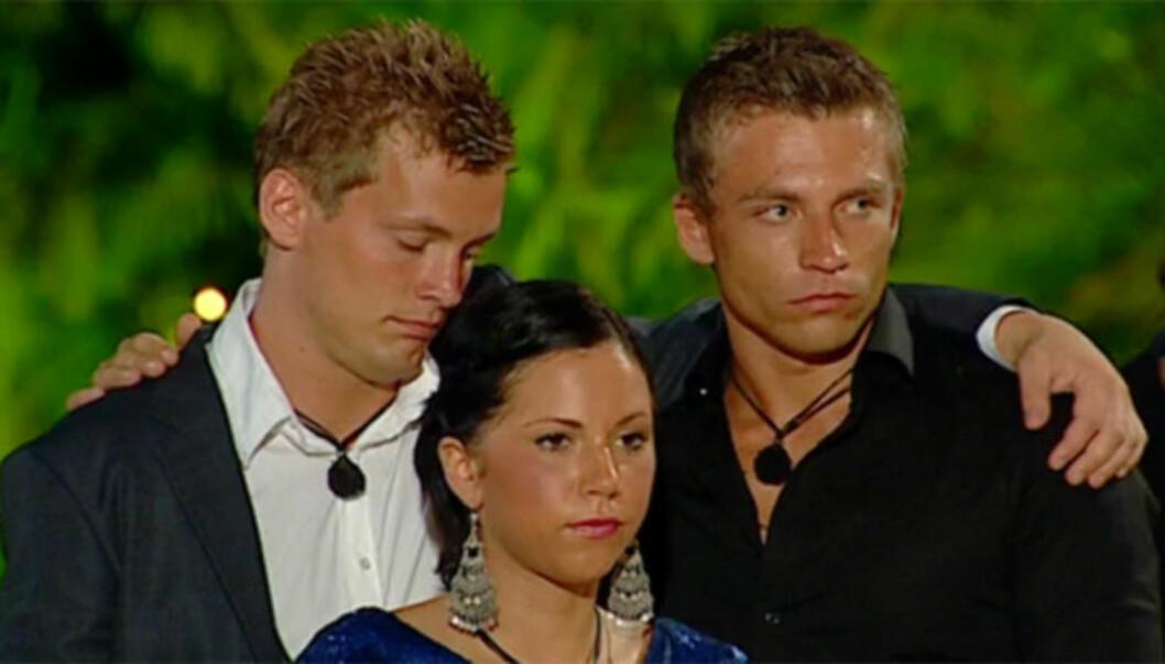 RØK UT: Stephan Muri Sætre måtte torsdag forlate «Paradise Hotel» etter at Jeanette Ervall valgte å bo sammen med Ole Christian Løvold istedenfor ham. Foto: TV3