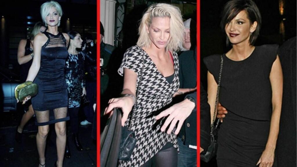 FORVANDLET: Popstjernen Sarah Harding har forandret både stil og oppførsel de siste årene - særlig siden hun ble forlovet rundt nyttår. Her avbildet på byen i november 2009 (t.v), januar 2011 og på baråpning i mars 2011 (t.h).  Foto: Stella Pictures/ All Over Press