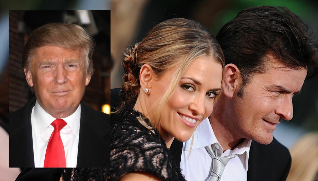 BEKYMRET: Allerede før Brooke Mueller og Charlie Sheen giftet seg i 2008, skal Trump ha advart Muellers mor om skandaleskuespilleren.  Foto: Stella Pictures