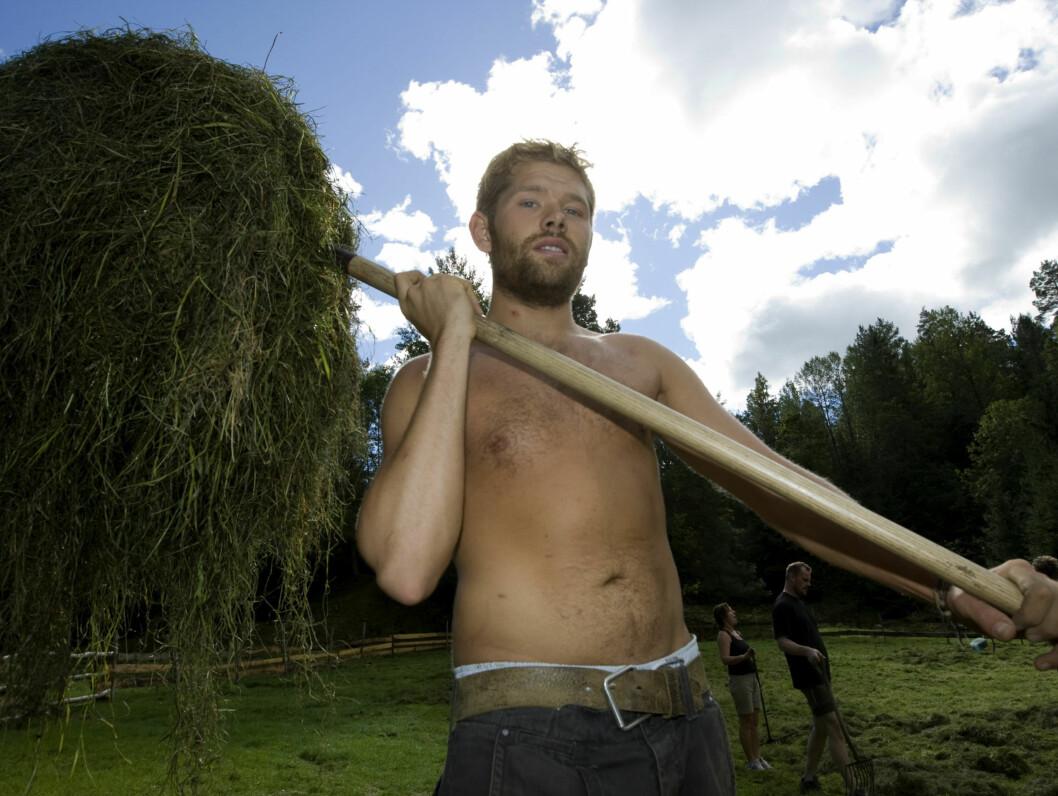 <strong>FARMEN-KLAR:</strong> Kim S. Krantz Hagen skal jobbe på spreng på Telemarksgården. Foto: TV 2