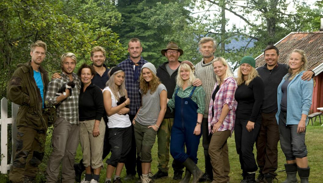 <strong>POPULÆR GJENG:</strong> Forrige mandag gikk startskuddet for TV 2s «Farmen»,  hvor dyr, natur og gårdsdrift er noen av suksessfaktorene. Foto: TV 2