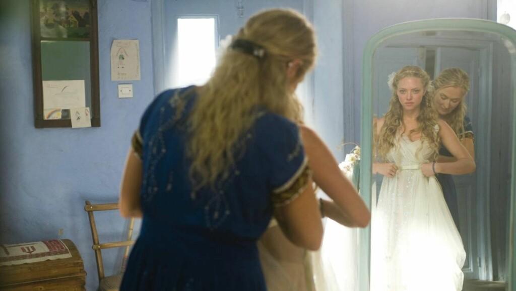 MAMMA MIA: Amanda Seyfried er mest kjent for rollen som Sophie i filmen «Mamma Mia». Foto: Filmweb
