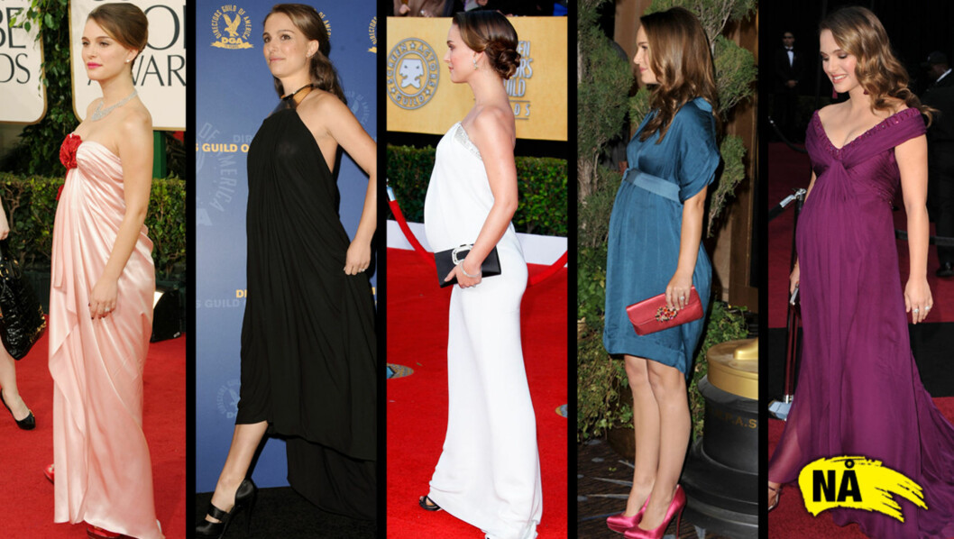 MAGEN I FOKUS: Liten tvil om at Natalie Portman har vært den mest profilerte Hollywood-kjendisen på prisutdelingene etter nyttår. Ikke bare har hun vunnet det som er av priser, men bildene av henne har også vært mest i fokus på grunn av den stadig v Foto: All over press