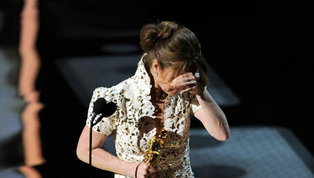 TABBE: Melissa Leo var litt for entusiastisk da hun vant Oscar. Banningen hennes ble for sterkt for amerikansk TV.  Foto: All Over Press