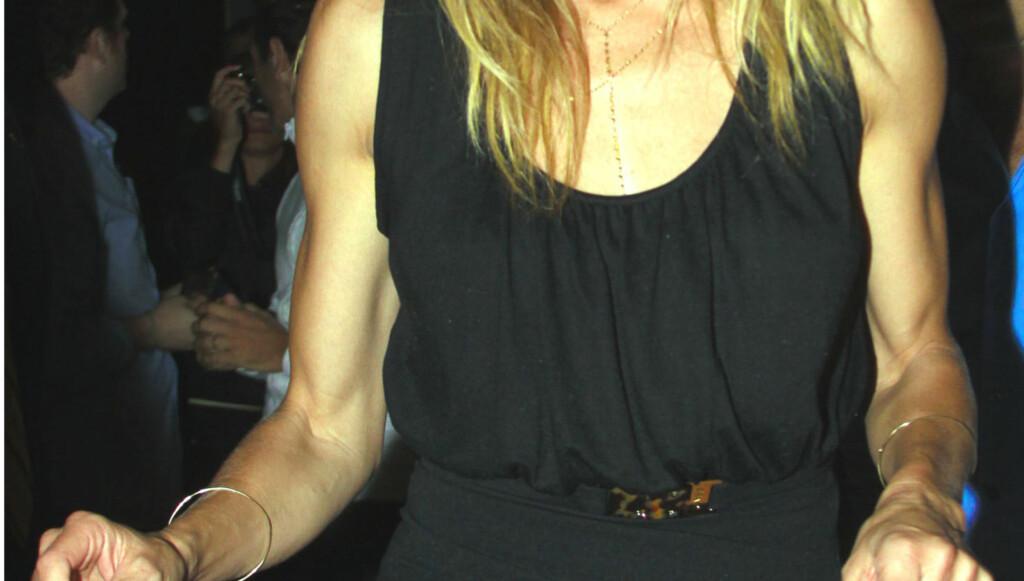 «BIG GUNS»: Skuespiller Cameron Diaz har overtatt Madonnas eks - både som kjæreste og treningspartner. Nå er stjernen mer veltrent enn noensinne... Her avbildet i forbindelse med en middag med tidligere president Bill Clinton.  Foto: All Over Press