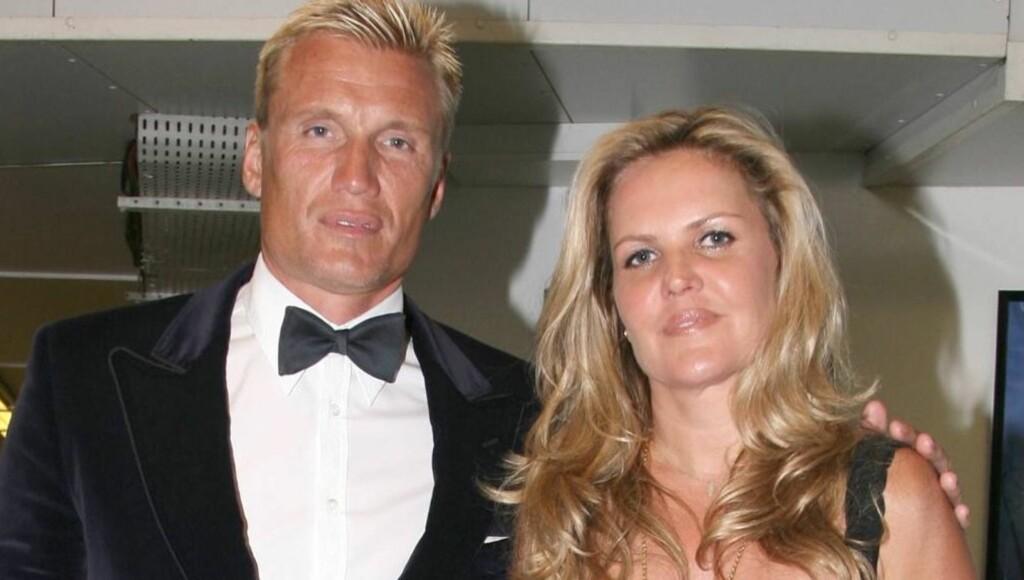 SKILLER SEG: Etter 17 års ekteskap har lykken tatt slutt for den svenske Hollywood-skuespilleren Dolph Lundgren og hans kone Anette Qviberg.  Foto: Stella Pictures