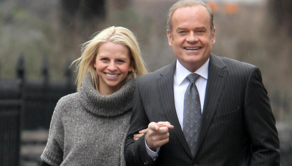 GIFTEKLARE OG MATGLADE: Skuespiller Kelsey Grammer og forloveden Kayte Walsh gifter seg i New York fredag 25. februar. De har planglagt en omfattende, fristende og eksklusiv bryllupsmeny.  Foto: Stella Pictures