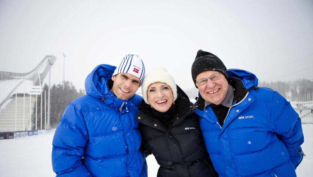 KLAR FOR VM PÅ HJEMMEBANE: Thomas Alsgaard, Karen-Marie Ellefsen og Arne Scheie er spente på hva ski-VM i Oslo bringer. Foto: Scanpix