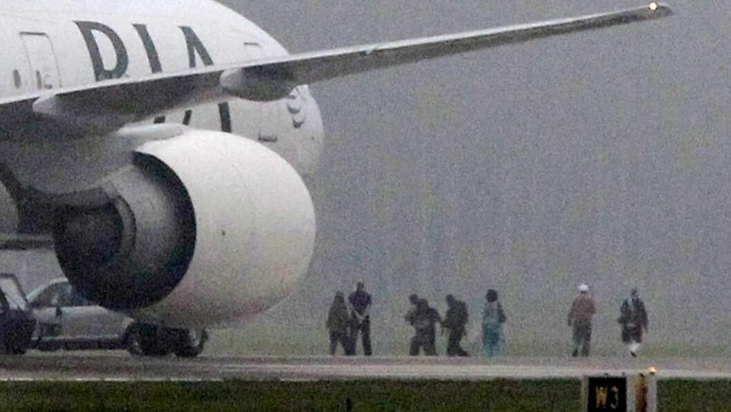 <strong>PÅGREP CANADIER:</strong> En 25 år gammel canadier er pågrepet etter at flyet fra Pakistan Airlines måtte lande på Arlanda. Foto: SCANPIX