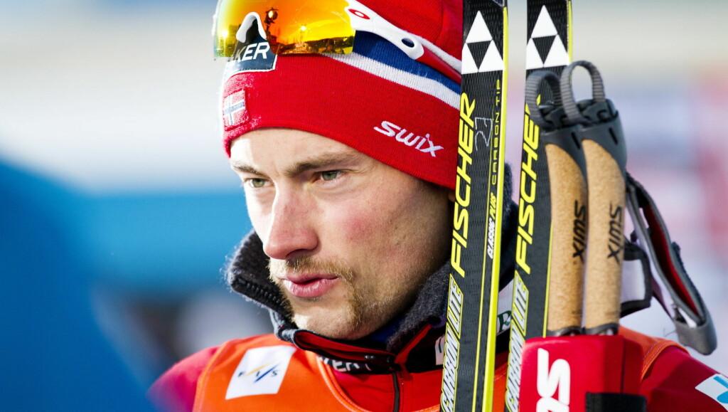 TRØNDER: Langrennsløper Petetr Northug ankom verdenscupen i Drammen med en ny «trønderlook» denne helgen. Han kom på 3. plass i 15 kilometer klassisk.  Foto: Scanpix