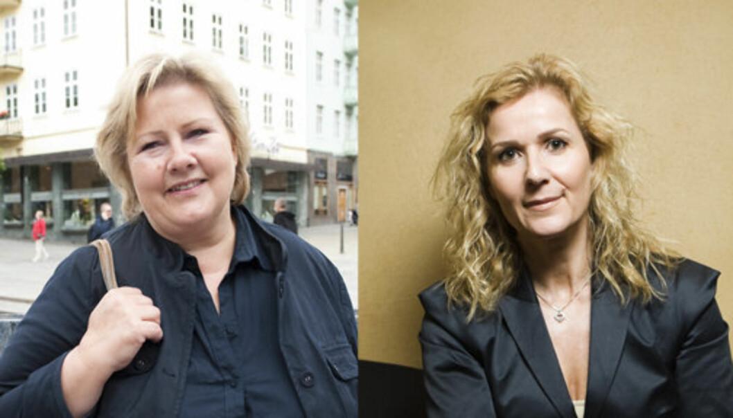 BLE MOBBET: Høyres Erna Solberg og tidligere Ap-politiker Karita Bekkemellem fikk gjennomgå på 80- og 90-tallet. Foto: Scanpix