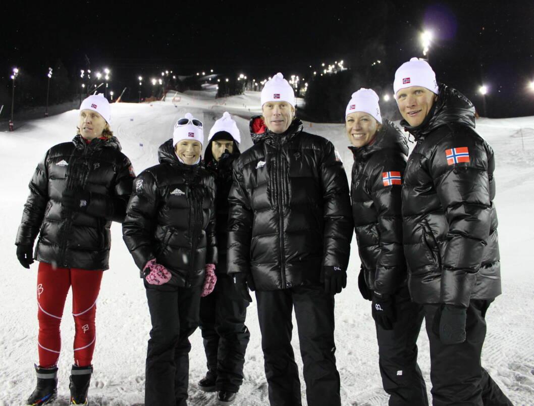 TUR-VEGARD: - Vi hører jo noen historier om barn som har møtt Vegard og som husker ham kun som «Gutta på tur»-Vegard - og som ikke i det hele tatt har plukket opp at har gått på ski, sier Bjørn Dæhlie, som er en av deltagerne i TV3-programmet «L Foto: Anders Myhren/Seher.no